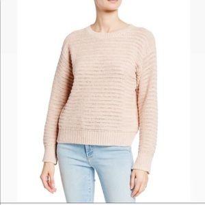 Joie Jayn Pink Crochet Casual Fit Sweater Sz M